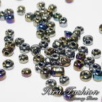 Glass Beads Size 4 mm.(No.6/0), Trans. Colors Rainbow